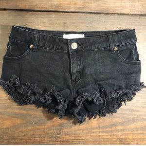 Distressed Cutoff Denim Shorts